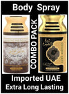 (COMBO) Pure Oudi +SHEIKH AL SHUYUKH  Gold  Arabic Body Spray Big size 2 pcs. combo Imported Orignal Made in UAE