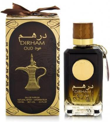 Dirham Oud Perfume Spray  By Ard Al Zafran 100ml for Men and Women Made in UAE Dubai