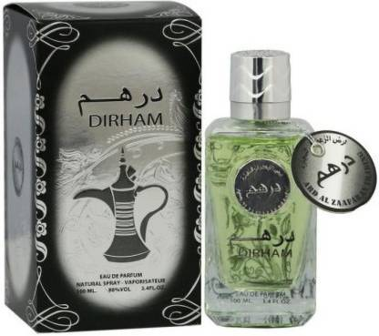 Dirham  Silver Perfume Spray  By Ard Al Zafran  100ml for Men and Women Made in UAE Dubai