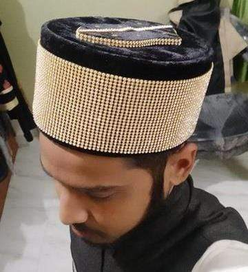 Golden Dimond Islamic Cap With Nalain paak High Selling Trending On Adilqadri #AQCAP