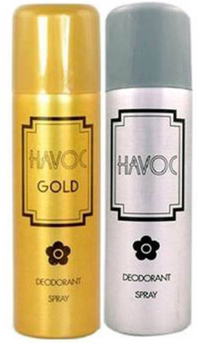 HAVOC SILVER & GOLDEN   Body Spray Deoderant 200 ML. combo pack orignal imported