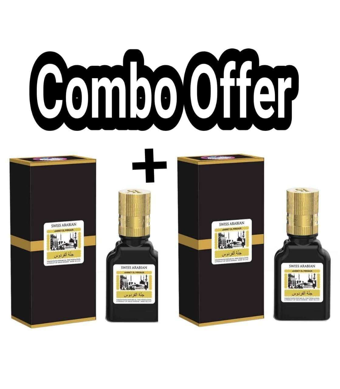 (COMBO) Jannatul Firdaus Black  , Limited Edition Attar Original Swiss Arabian combo