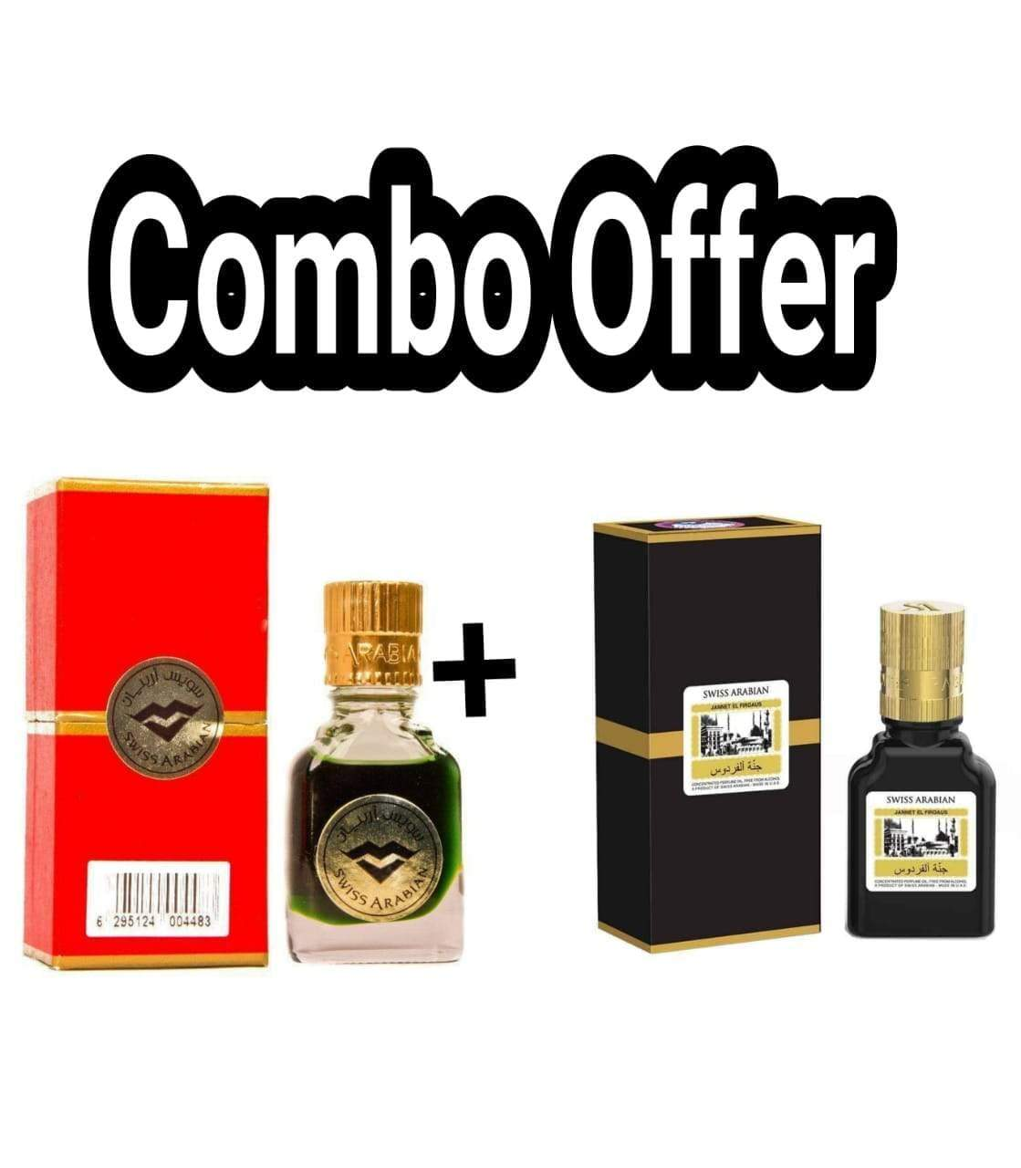 (COMBO) Jannatul Firdaus Black & Red , Limited Edition Attar Original Swiss Arabian combo