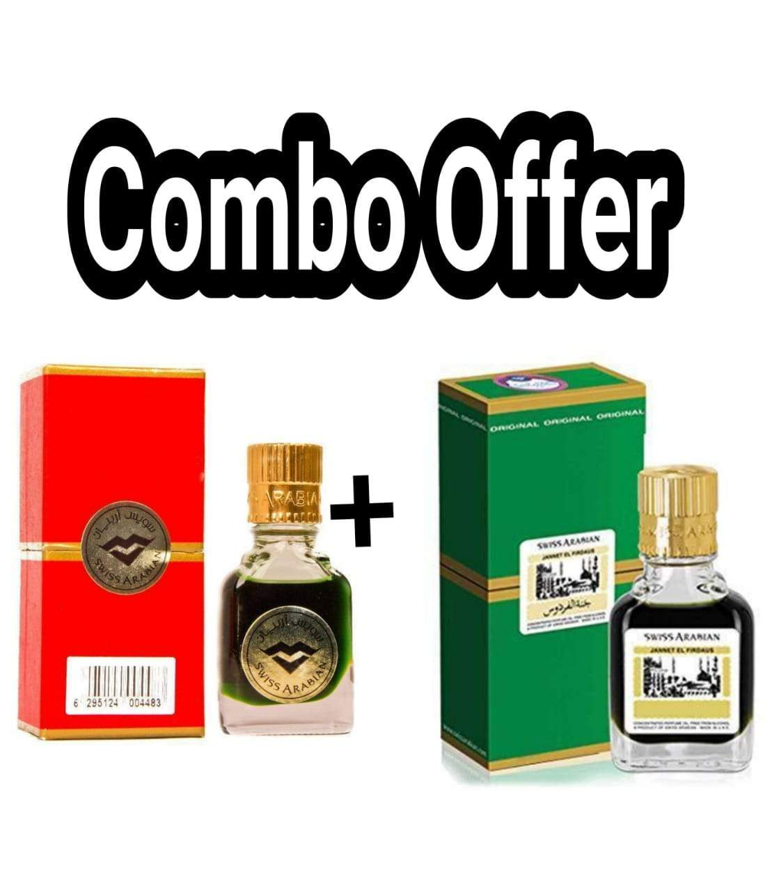 (COMBO) Jannatul Firdaus Red & Green  , Limited Edition Attar Original Swiss Arabian combo