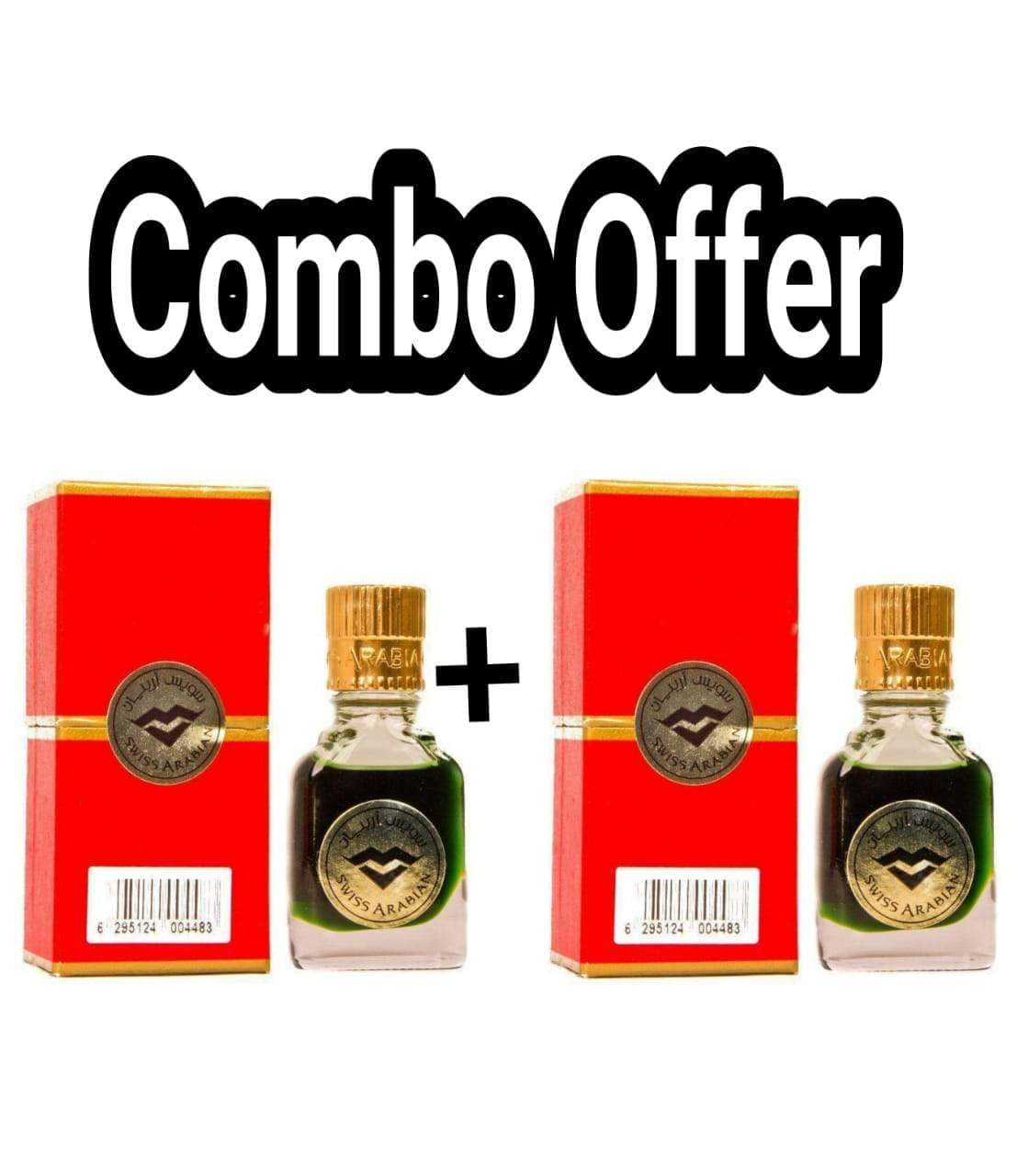 (COMBO) Jannatul Firdaus Red  Limited Edition Attar Original Swiss Arabian combo