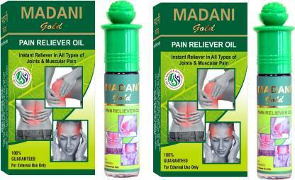 Madani Gold Pain Reliver Oil Roll Liquid 25 ML. PACK OF 2  (COMBO PACK)