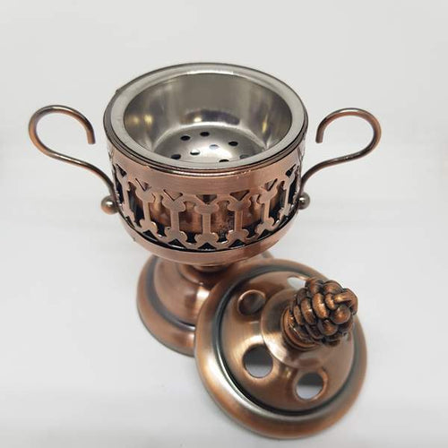 Mini Bakhoor Daani ( Non Electric Bukhur Burner) COPPER OR Silver, golden