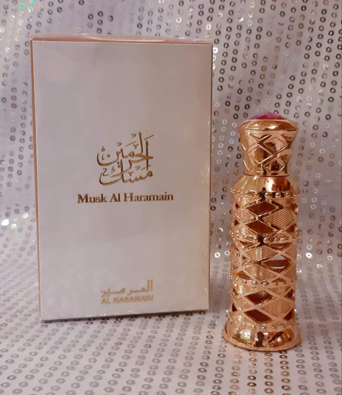 Musk Al Haramain Synthetic Attar Pure Imported Synthetic Attar Perfume 12 ml (U A E  Dubai)