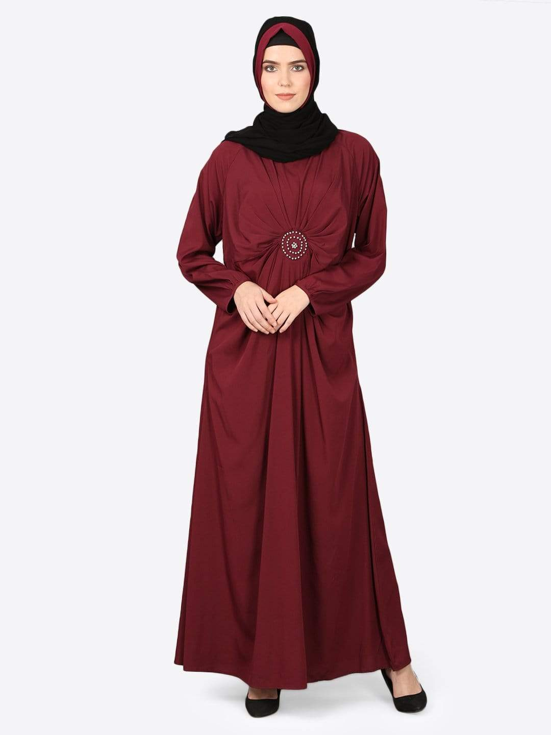 Nazneen circle pleated Abaya