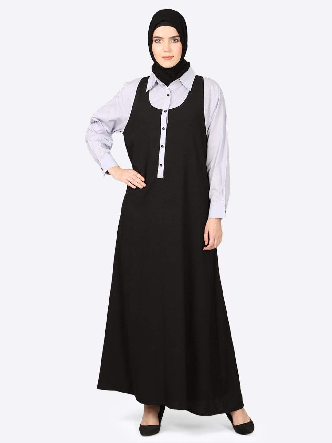 Nazneen Executive two color Abaya