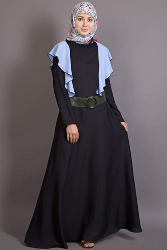 Nazneen Frill casual daily wear  collage girls casual abaya