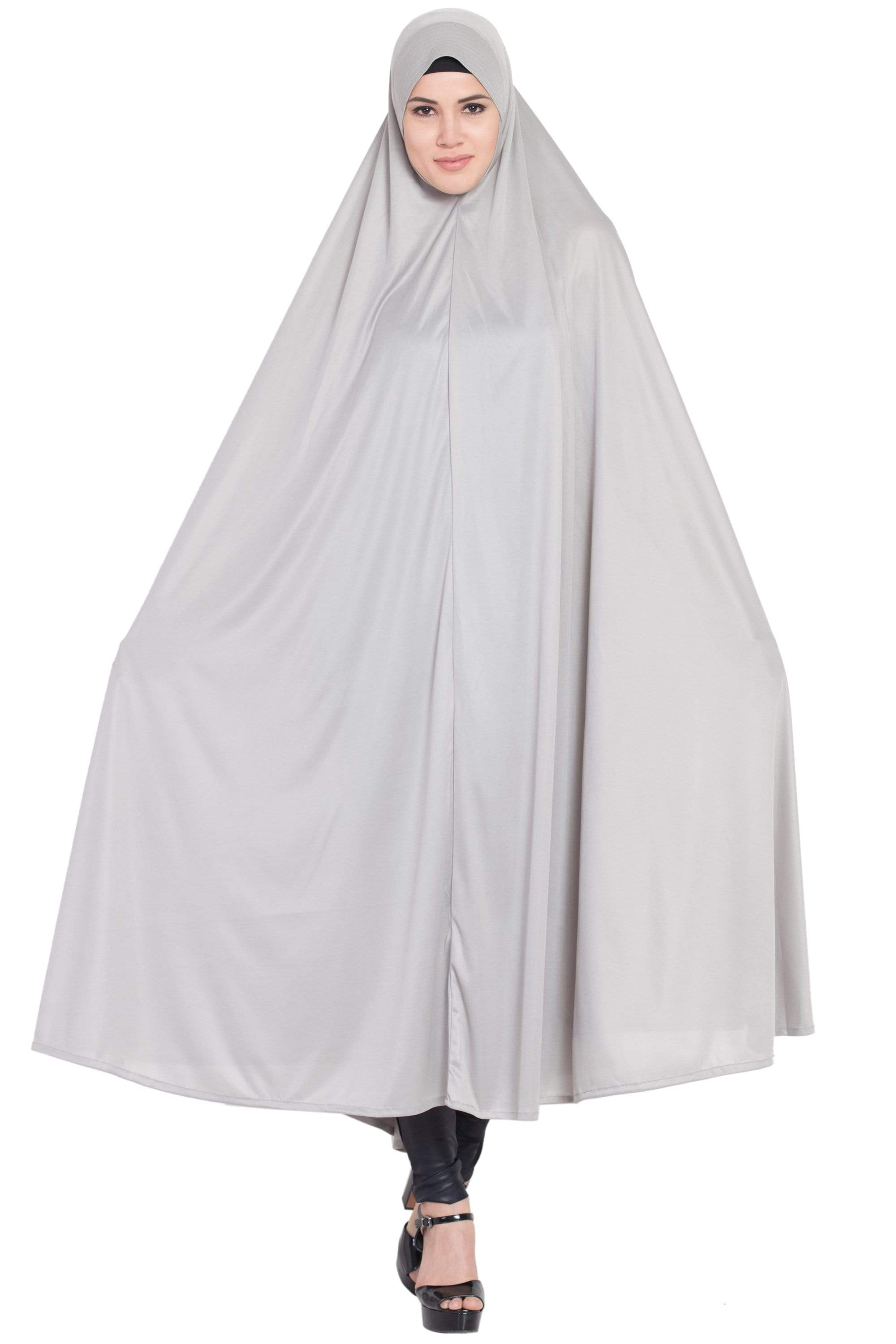 Nazneen head to calf Grey Jilbab Abaya
