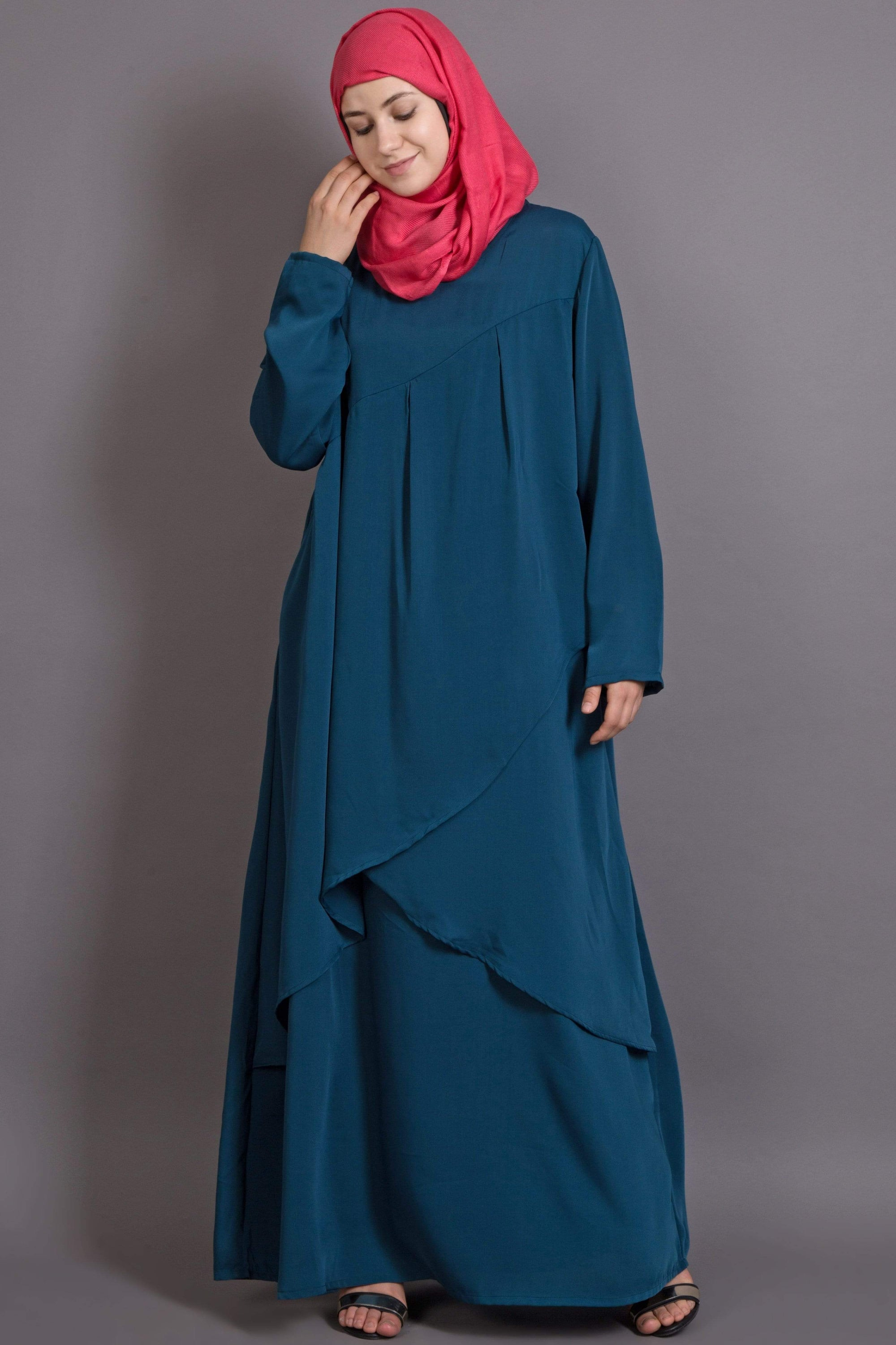 Nazneen Overlapped panel casual Abaya