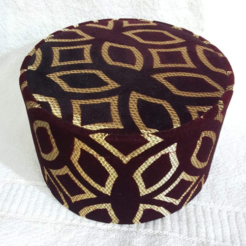 SP. 1 ST HIGH QWALITY  VELVET CAP MAROON COLOR