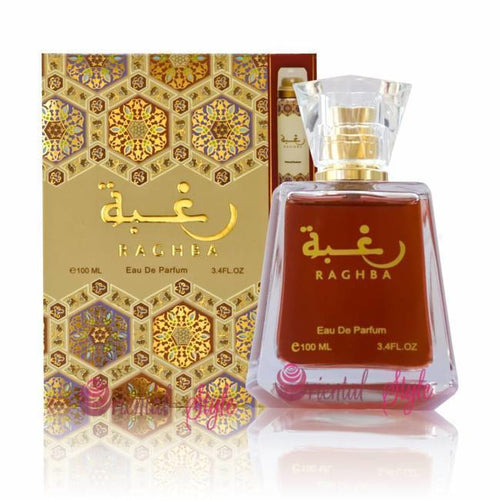 RAGHBA By Lattafa Perfume SPRAY (Unisex Fragrances)  100ml. imported  MADE IN U.A.E.  DUBAI