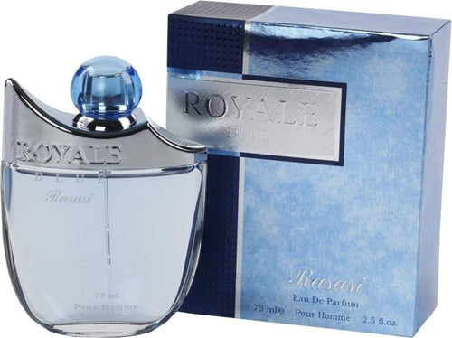 Rasasi  ROYALE Blue  Perfume spray orignal  imported  , 75ml. MADE IN U.A.E. DUBAI