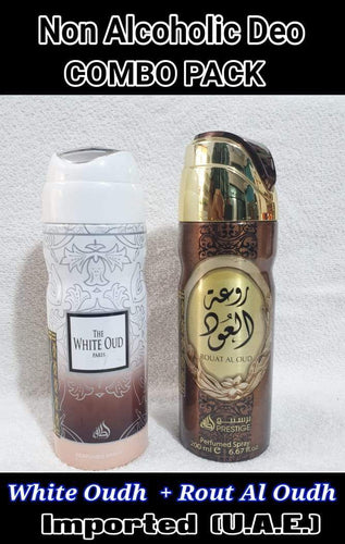 ROUT AL OUDH + WHITE OUDH Body Spray  2 pcs. combo MY PERFUME OTOORY BRAND Imported Orignal Made in UAE
