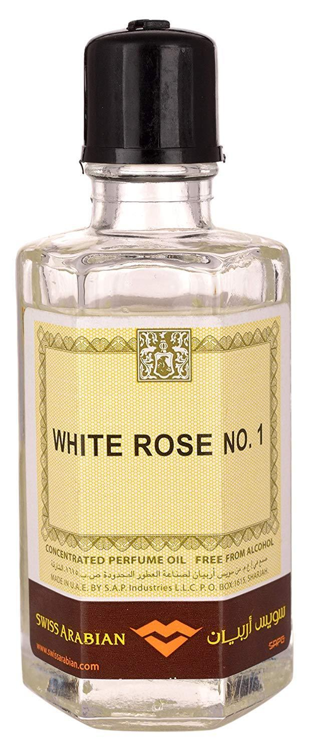 Swiss Arabian White Rose No.1 Synthetic Attar/Ittar, 23 ml
