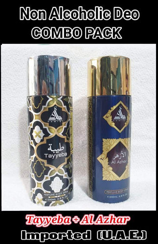 TAYYEBA + AL AZHAR  Body Spray  2 pcs. combo HAMIDI BRAND Imported Orignal Made in UAE