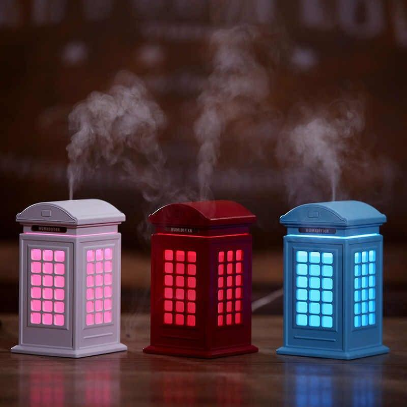 TELEPHONE BUTH HUMIDIFIER ESSENTIAL OIL DIFFUSER AIR FRESHER MIST MAKER, With Free Essential Oil