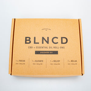 BLNCD - Premium CBD + Essential Oil Roll-Ons Discovery Kit