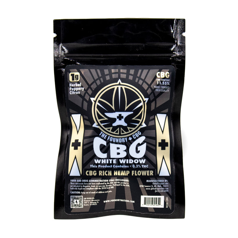 Foundry - CBG Hemp Flower - White Widow