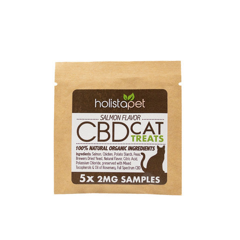 SAMPLE NOT FOR RESALE - HolistaPet - CBD Cat Treats - 5ct 2mg