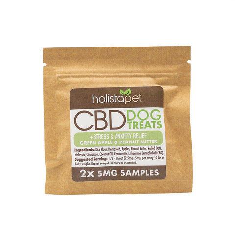 SAMPLE NOT FOR RESALE - HolistaPet - CBD Dog Treats +Stress & Anxiety Relief 2ct 5mg