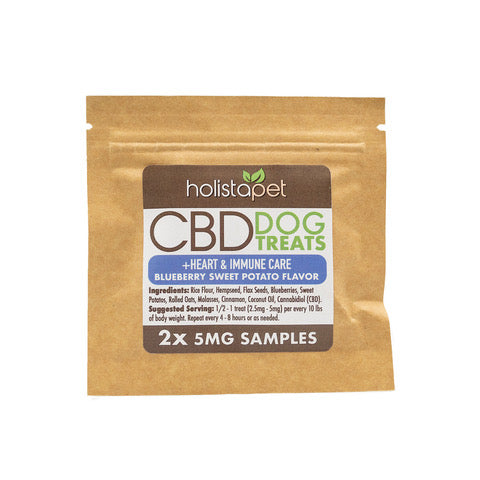 SAMPLE NOT FOR RESALE - HolistaPet - CBD Dog Treats +Heart & Immune Care 2ct 5mg