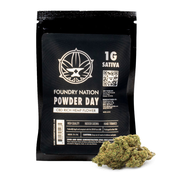 Foundry - Indoor CBD Hemp Flower - Powder Day (Sativa)