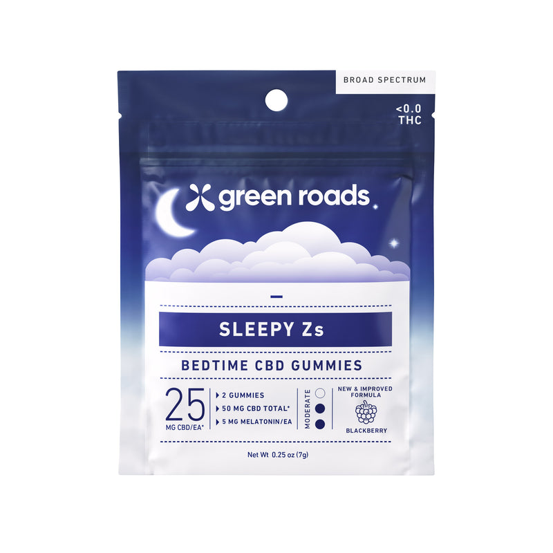 Green Roads - CBD Gummies - Sleepy Zs 2ct 50mg