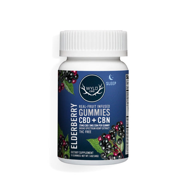 WYLD CBD - Broad Spectrum Gummies CBD + CBN - Elderberry