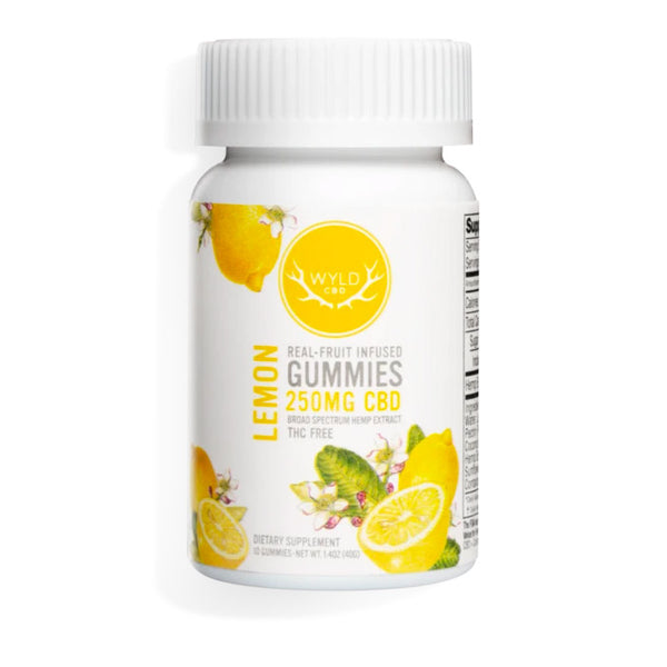 WYLD CBD - Broad Spectrum Gummies - Lemon