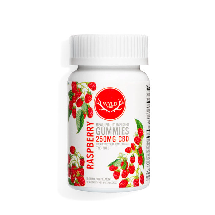 WYLD CBD - Broad Spectrum Gummies - Raspberry