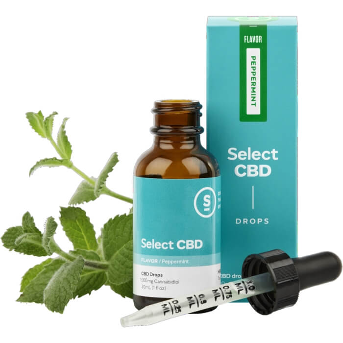 1000MG Peppermint CBD Drops by Select CBD
