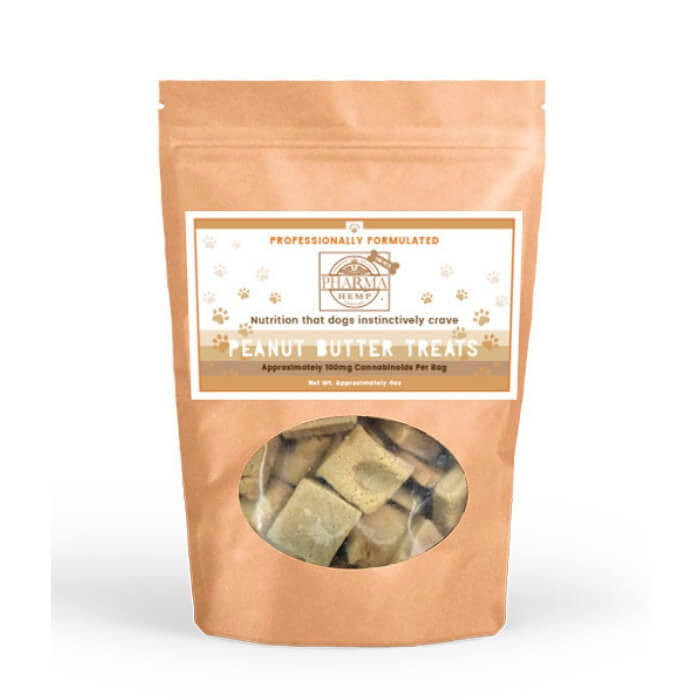 100MG Pharma Hemp Complex Peanut Butter Pet Treats by Hemp Health Inc.