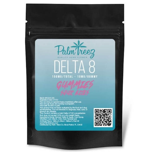 150MG Vegan Delta 8 CBD Gummies by Palm Treez CBD