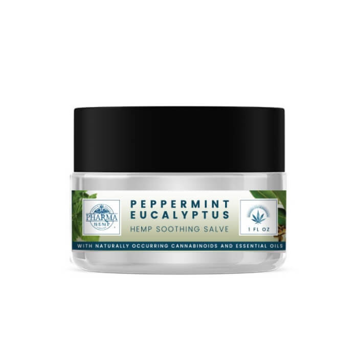 150MG Peppermint Eucalyptus Soothing CBD Salve by Hemp Health Inc.