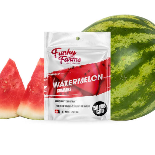 Watermelon CBD Gummies by Funky Farms CBD