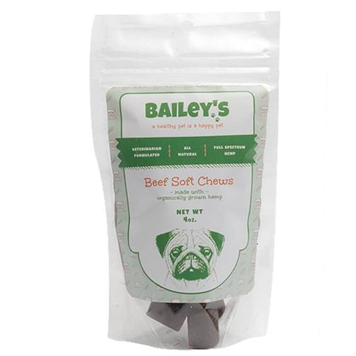 Beef Flavored Soft Chew CBD Dog Treats by Bailey's CBD