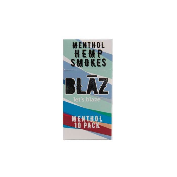 (10pk Carton) Menthol Hemp Smoke by BLAZ CBD