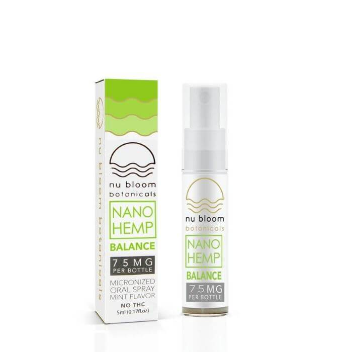 Balance CBD Nano Hemp Oral Spray by Nu Bloom Botanicals
