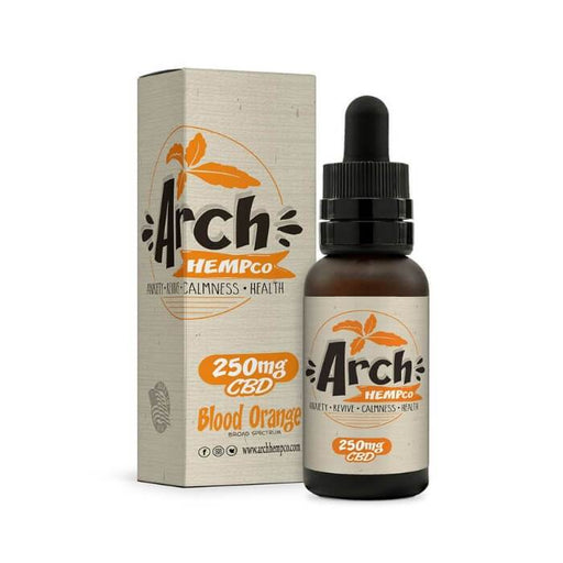 Blood Orange Broad Spectrum CBD Tincture by Arch Hemp Co
