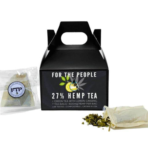 CBD For The People Green Tea Hemp Bags