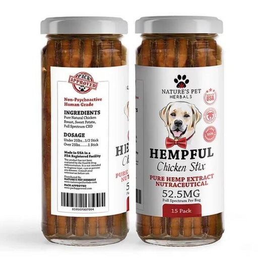 Nature's Pet Herbals CBD Chicken Stix For Pets