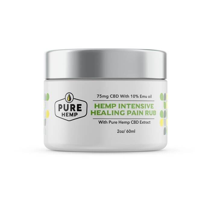 Pure Hemp CBD Hemp Intensive Healing Relief Rub with Emu Oil