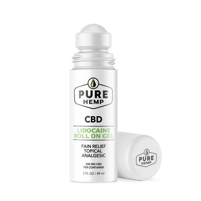 Pure Hemp CBD Lidocaine Relief Roll On Gel