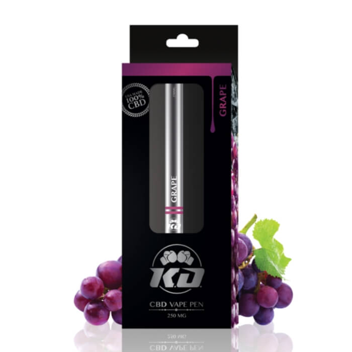 CBD Grape Disposable Vape Pen by Knockout CBD