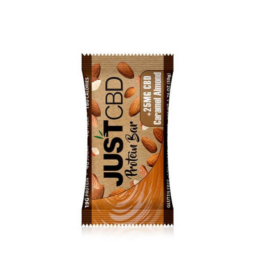 Caramel Almond CBD Protein Bars by JustCBD