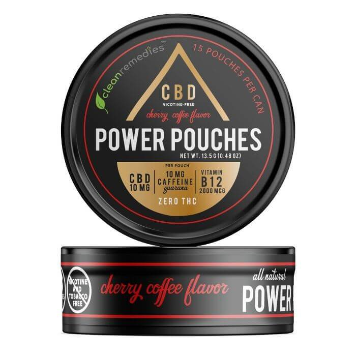 Clean Remedies Organic CBD Caffeine Cherry Coffee Power Pouches